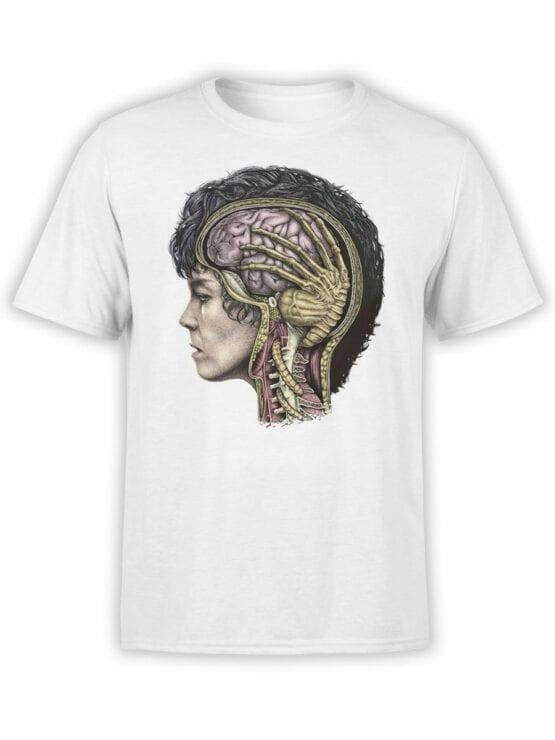 1748 Brain T Shirt Alien T Shirt Front