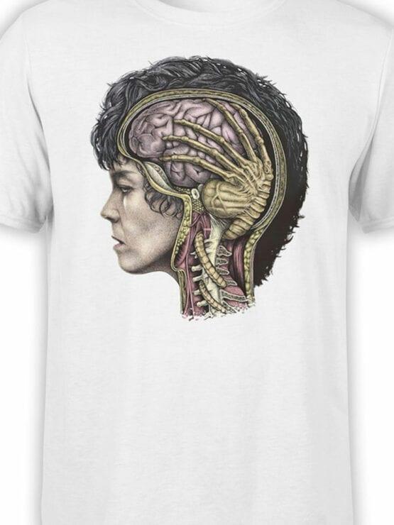1748 Brain T Shirt Alien T Shirt Front Color
