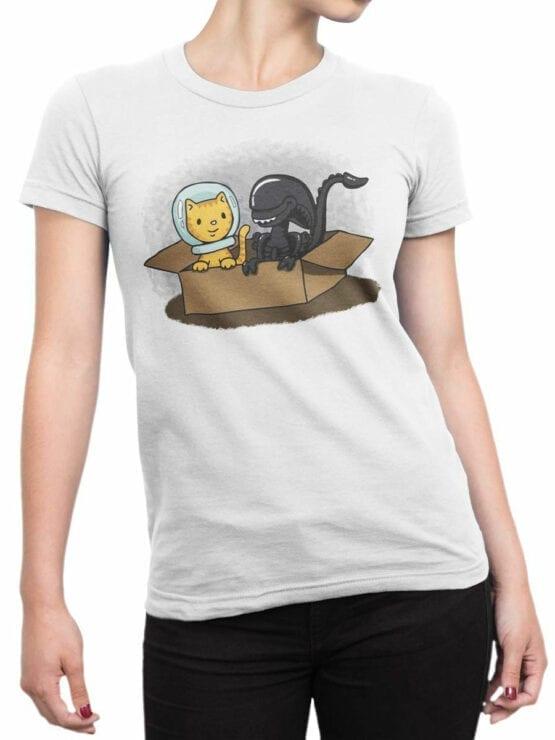 1750 Friends T Shirt Alien T Shirt Front Woman