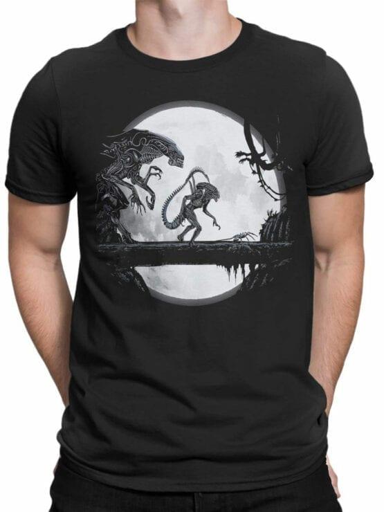 1751 Night T Shirt Alien T Shirt Front Man