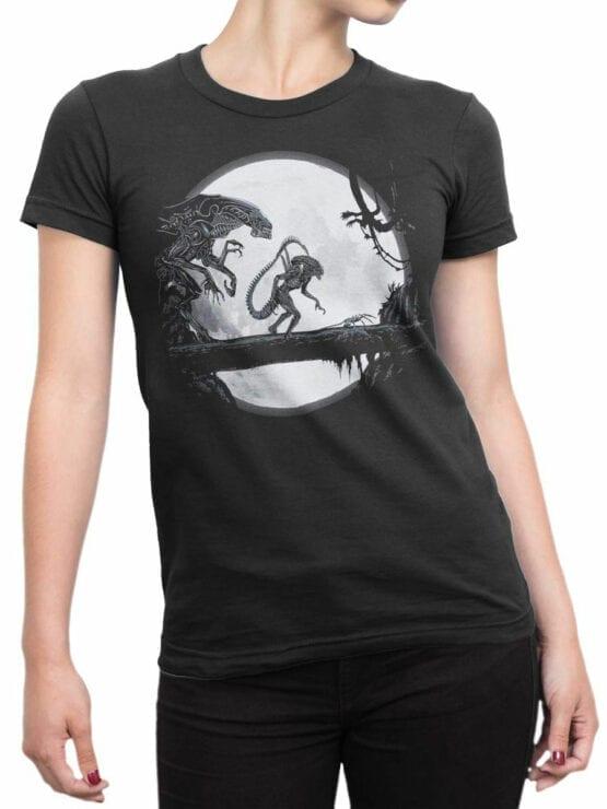 1751 Night T Shirt Alien T Shirt Front Woman