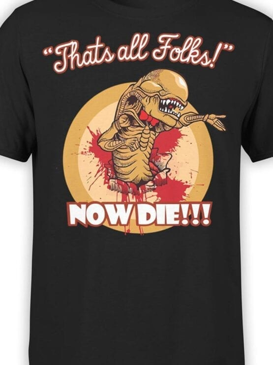 1752 Now Die T Shirt Funny Alien T Shirt Front Color