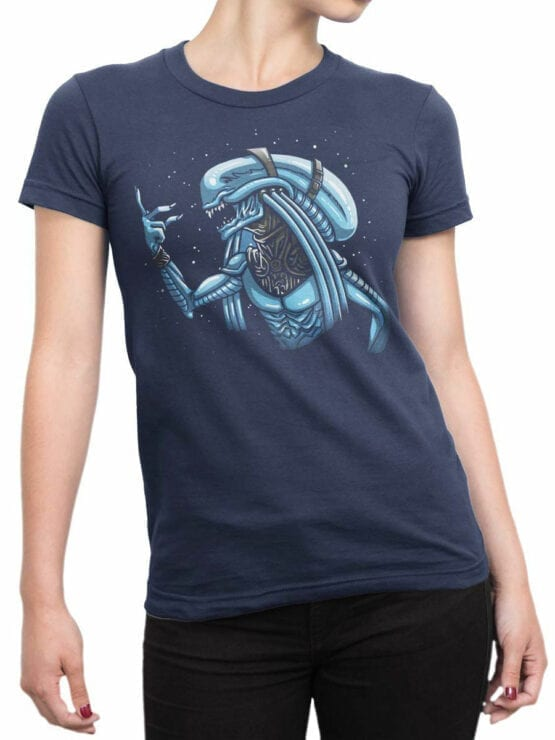 1753 The Fifth Element T Shirt Funny Alien T Shirt Front Woman
