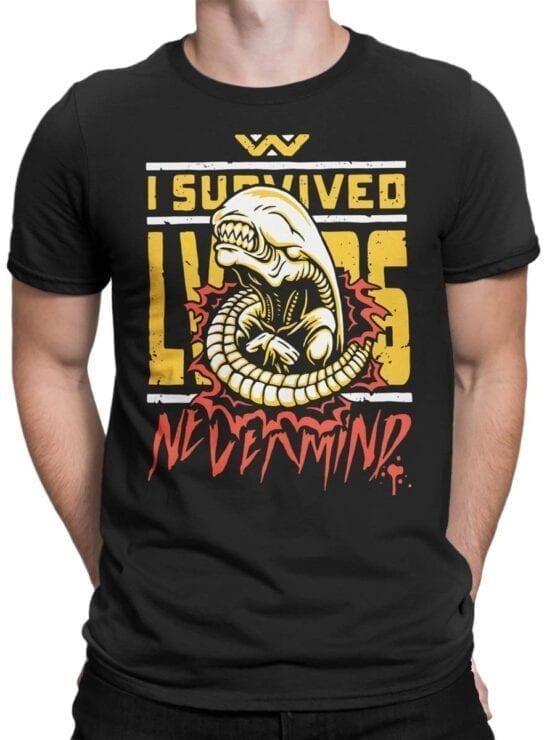 1754 Nevermind T Shirt Funny Alien T Shirt Front Man