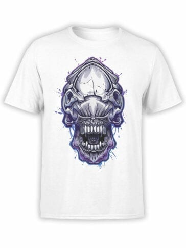 1756 Invader Face T Shirt Funny Alien T Shirt Front