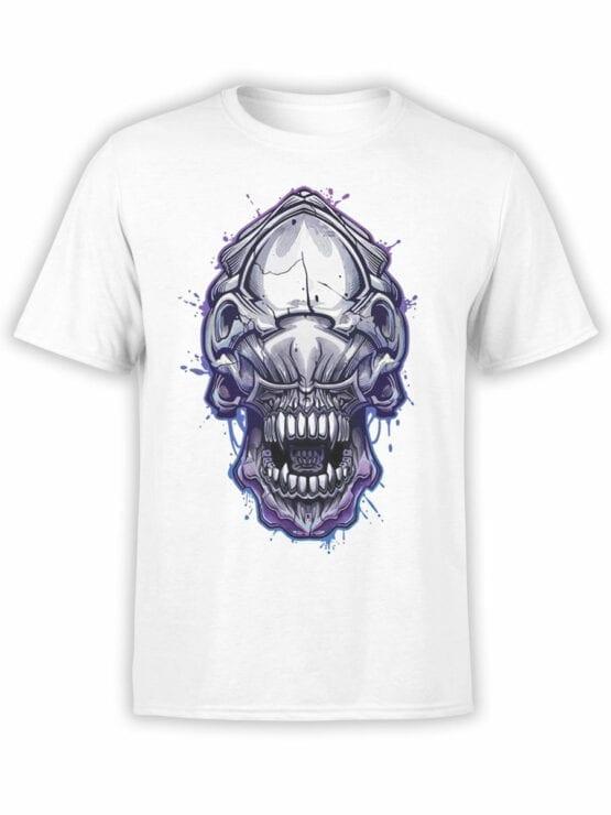 1756 Invader Face T Shirt Funny Alien T Shirt Front