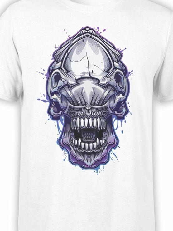 1756 Invader Face T Shirt Funny Alien T Shirt Front Color