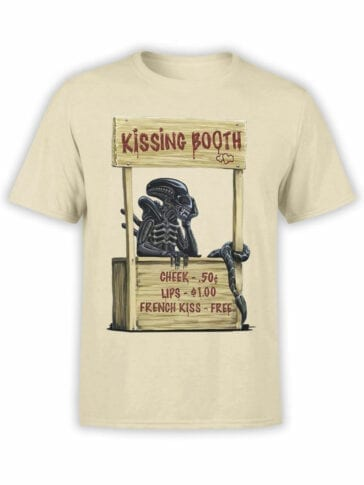 1757 Kissing Booth T Shirt Funny Alien T Shirt Front