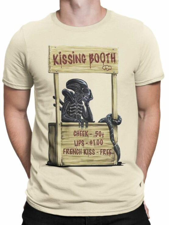 1757 Kissing Booth T Shirt Funny Alien T Shirt Front Man