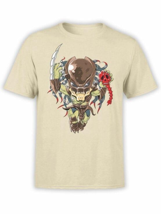 1758 Very Cute Predator T Shirt Funny Alien T Shirt Front