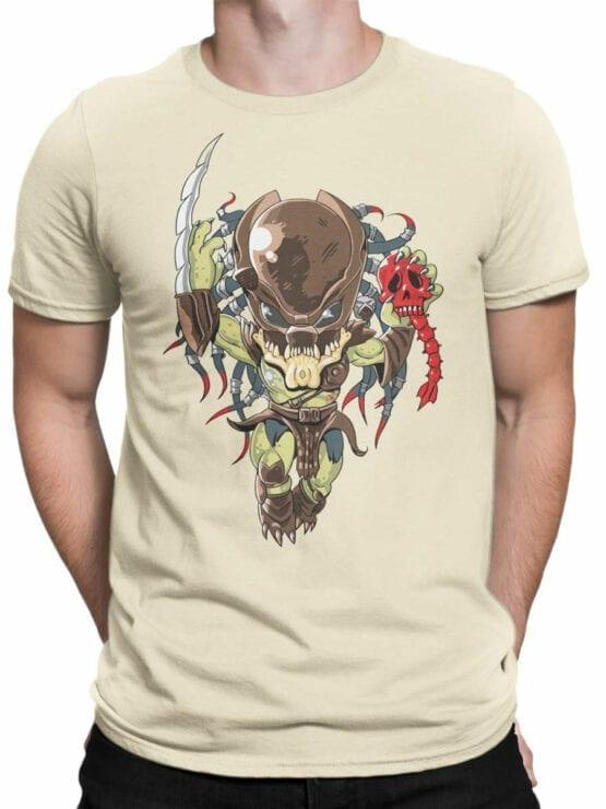 1758 Very Cute Predator T Shirt Funny Alien T Shirt Front Man