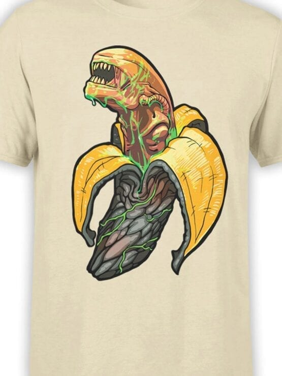 1759 Bananalien T Shirt Funny Alien T Shirt Front Color