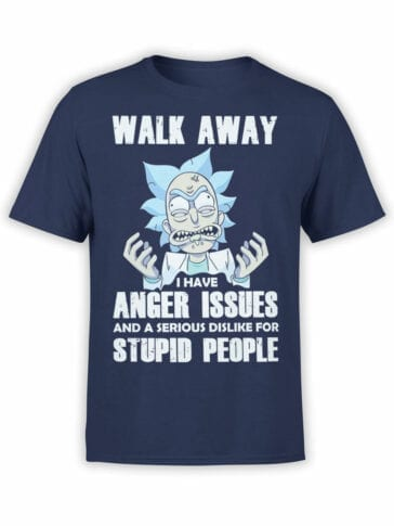1763 Walk Away Rick and Morty T Shirt Front