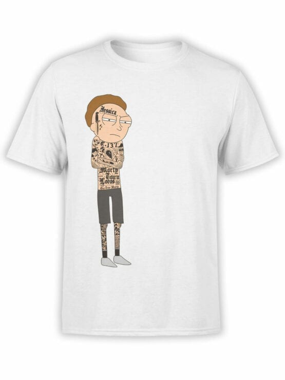 1765 Gangsta Morty Rick and Morty T Shirt Front