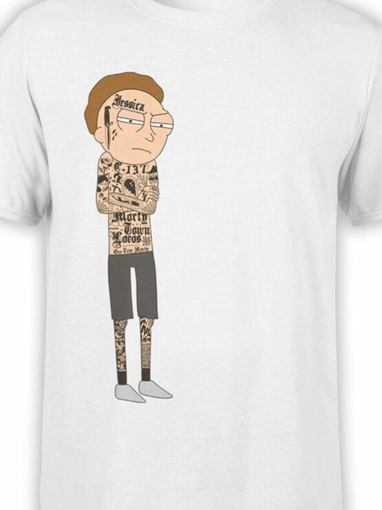 1765 Gangsta Morty Rick and Morty T Shirt Front Color
