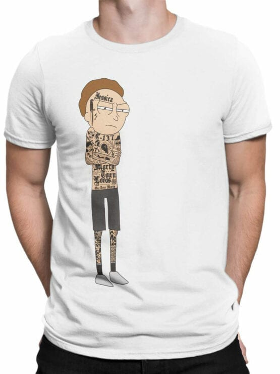 1765 Gangsta Morty Rick and Morty T Shirt Front Man