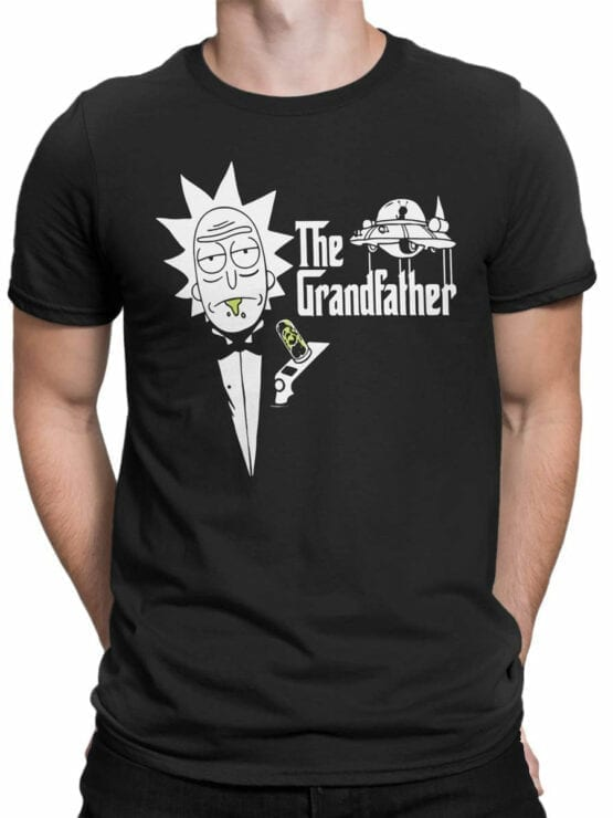 1765 The Grandfather Rick and Morty T Shirt Front Man