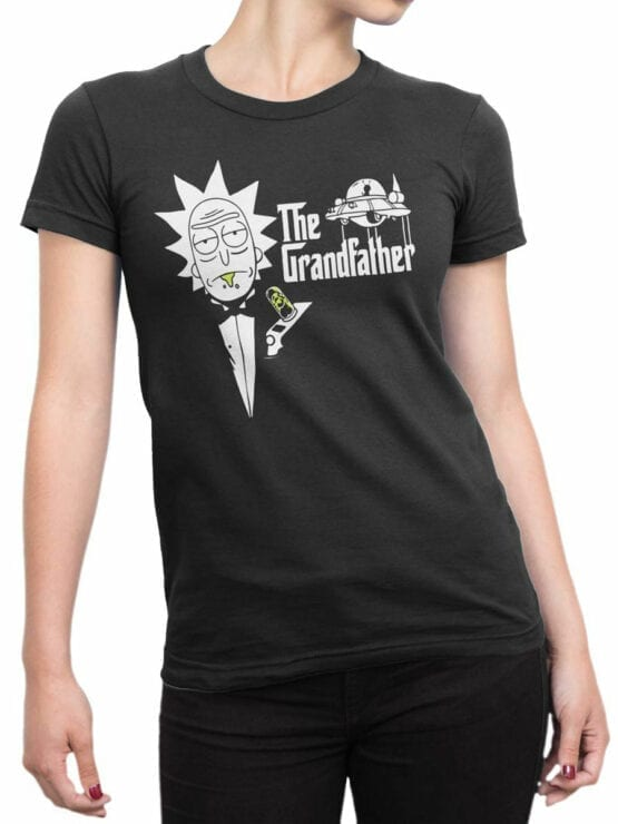 1765 The Grandfather Rick and Morty T Shirt Front Woman