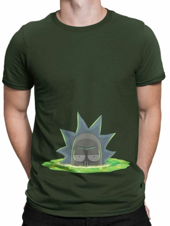 1768 Dimension Rick and Morty T Shirt Front Man