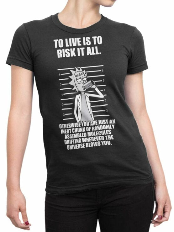 1768 Risk Rick and Morty T Shirt Front Woman