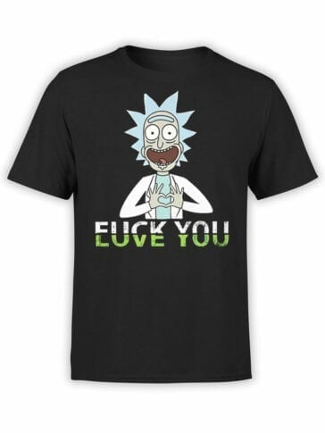 1776 Love You Rick and Morty T Shirt Front