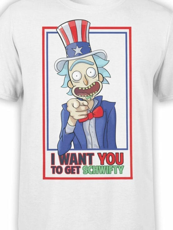 1778 I Want You Rick and Morty T Shirt Front Color