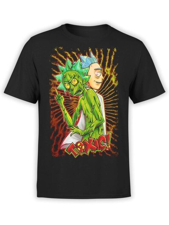 1779 Toxic Rick and Morty T Shirt Front