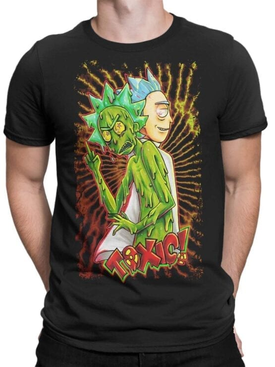 1779 Toxic Rick and Morty T Shirt Front Man
