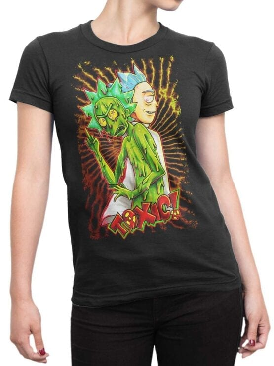 1779 Toxic Rick and Morty T Shirt Front Woman