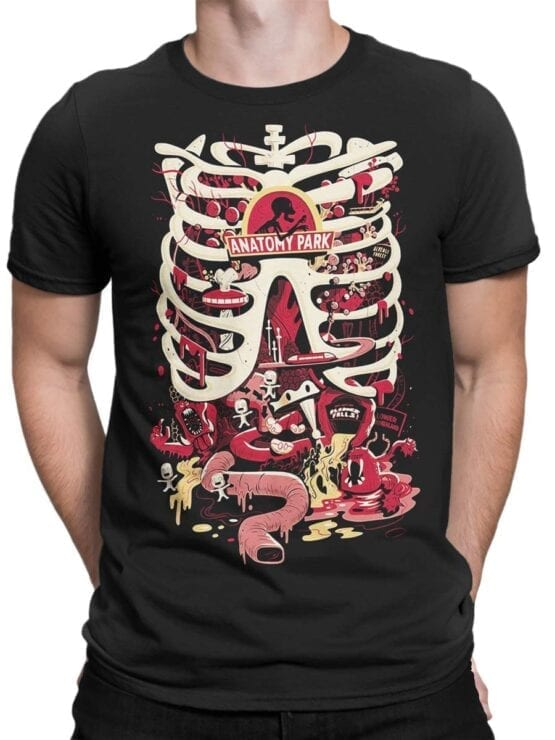 1780 Anatomy Park Rick and Morty T Shirt Front Man