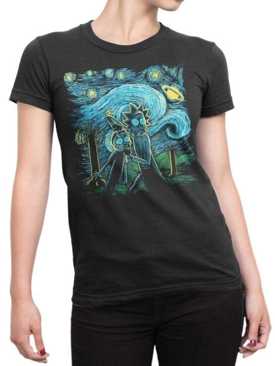 1783 Van Gogh Rick and Morty T Shirt Front Woman