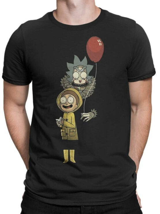 1785 Game Rick and Morty T Shirt Front Man