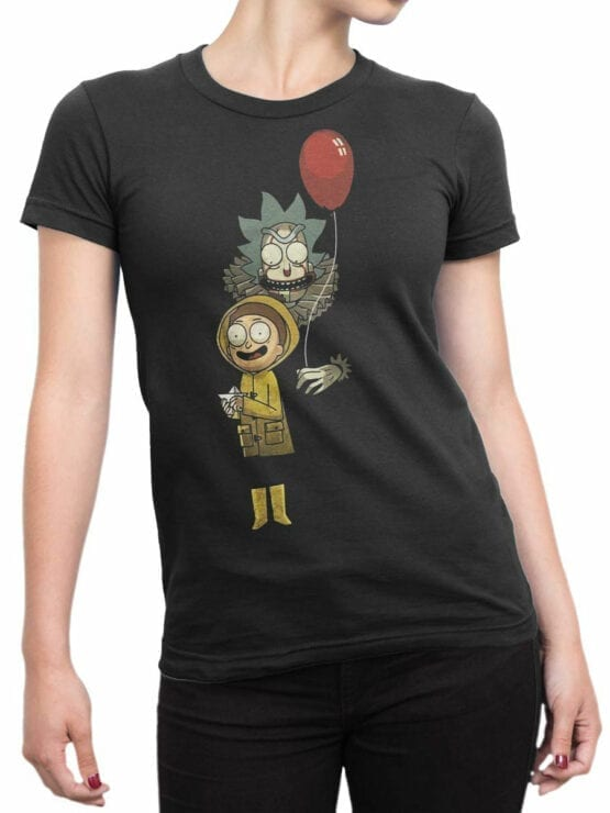 1785 Game Rick and Morty T Shirt Front Woman