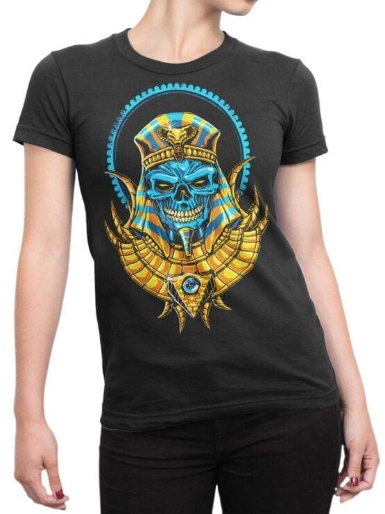 1788 Warrior Dead Pharaoh T Shirt Front Woman