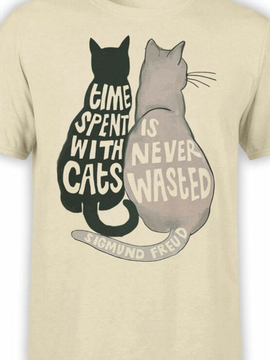 1789 Time is Never Wasted Cat T Shirt Front Color