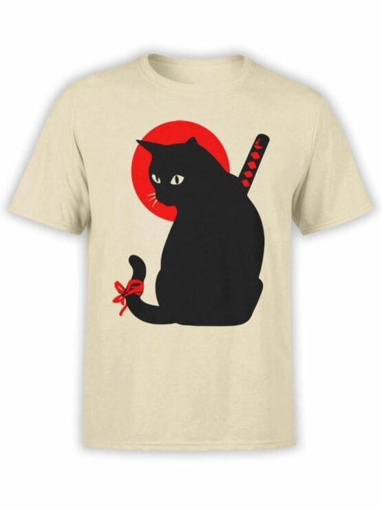 1790 Warrior Samurai Cat T Shirt Front