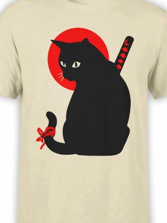 1790 Warrior Samurai Cat T Shirt Front Color