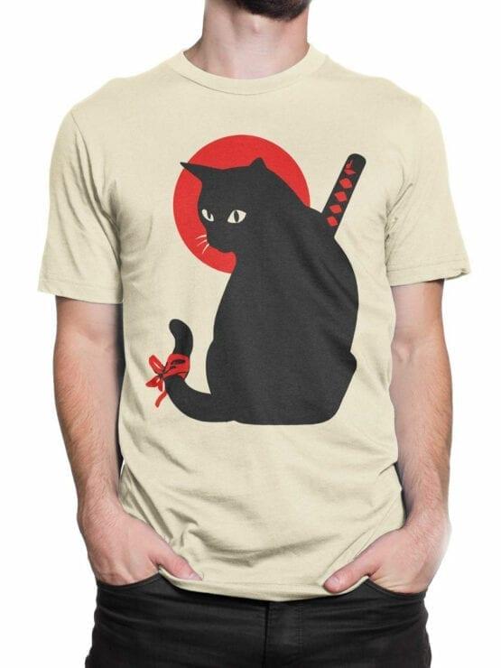 1790 Warrior Samurai Cat T Shirt Front Man 2