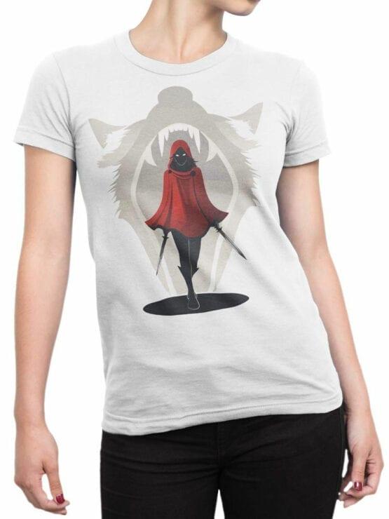 1793 Assassin Red Riding Hood T Shirt Front Woman