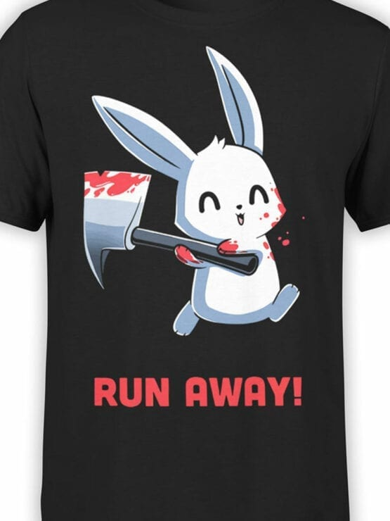 1794 Rabbit Run Away T Shirt Front Color