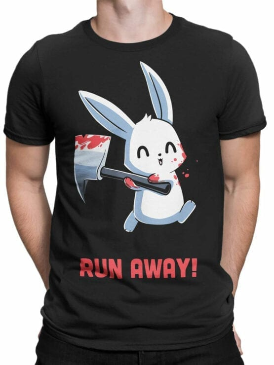 1794 Rabbit Run Away T Shirt Front Man
