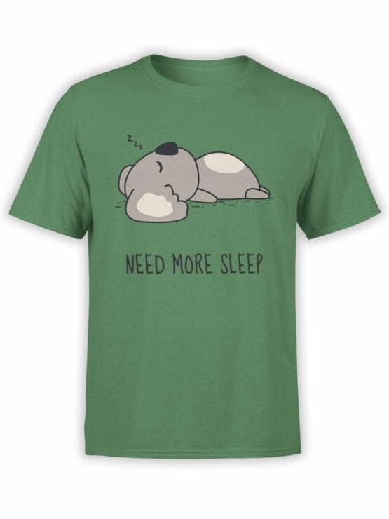 1795 Koala Need For Sleep T Shirt Front