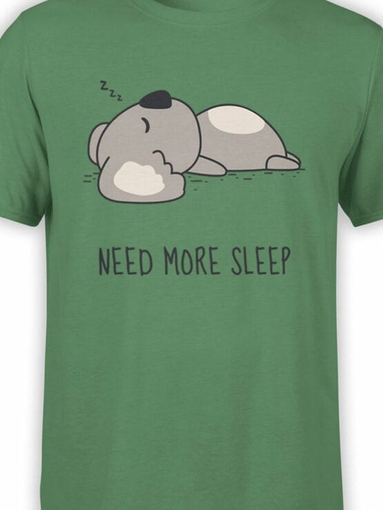 1795 Koala Need For Sleep T Shirt Front Color