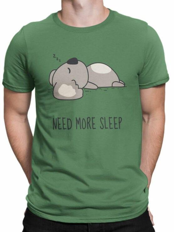 1795 Koala Need For Sleep T Shirt Front Man