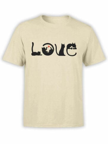 1796 Love Cats T Shirt Front