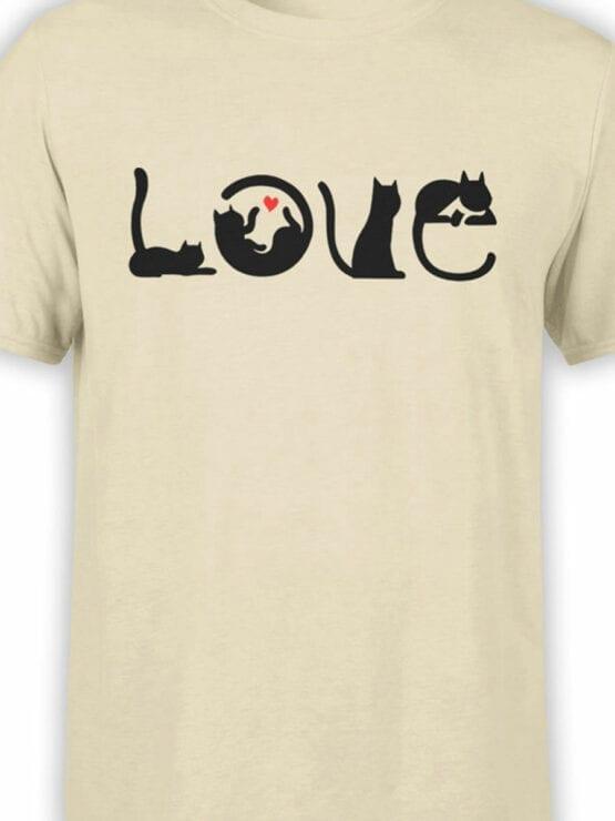 1796 Love Cats T Shirt Front Color