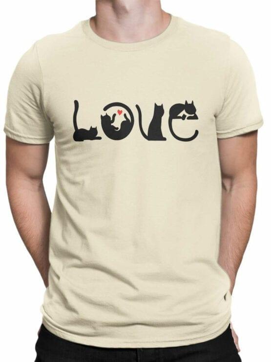 1796 Love Cats T Shirt Front Man