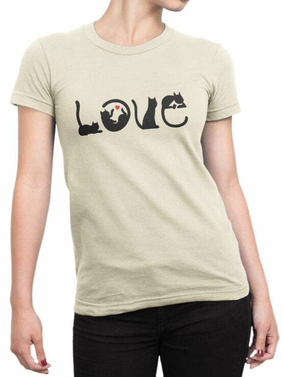 1796 Love Cats T Shirt Front Woman