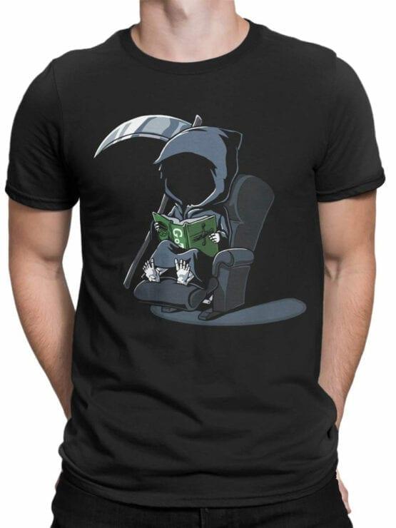 1803 Cute Death T Shirt Front Man