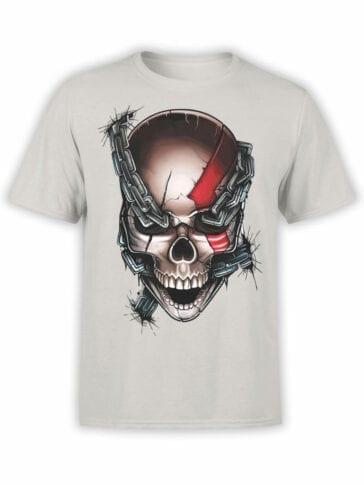 1804 God of War Skull T Shirt Front